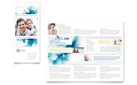 Behavioral Counseling - Tri Fold Brochure - Adobe Illustrator Template Design Sample