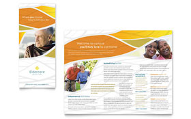 Assisted Living - Microsoft Word Brochure Template