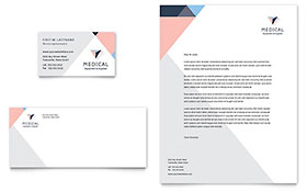 Home Medical Equipment - Business Card & Letterhead Template