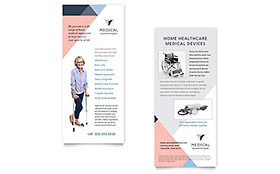 Home Medical Equipment - Rack Card Template