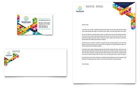 Health Fair - Business Card & Letterhead Template