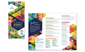 Health Fair - Microsoft Word Tri Fold Brochure Template