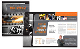 Manufacturing Engineering - Brochure Template Design Sample