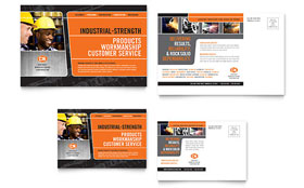 Manufacturing Engineering - Postcard Template Design Sample