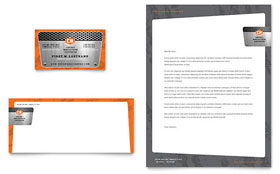 Manufacturing Engineering - Business Card & Letterhead Template Design Sample