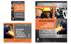 Manufacturing Engineering - Flyer & Ad Template Design Sample