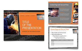 Manufacturing Engineering - PowerPoint Presentation Template Design Sample