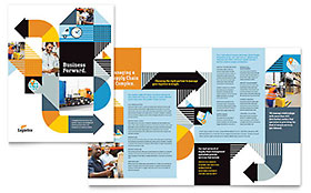 Logistics & Warehousing - Print Design Brochure Template