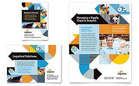 Logistics & Warehousing - Print Ad Sample Template