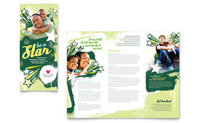 Child Advocates - Graphic Design Tri Fold Brochure Template