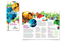 Youth Program - Desktop Publishing Tri Fold Brochure Template