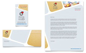 Food Bank Volunteer - Business Card & Letterhead Template Design Sample