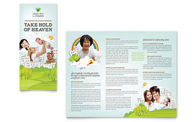 Foster Care & Adoption - Brochure - Adobe Illustrator Template Design Sample