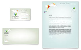 Foster Care & Adoption - Business Card & Letterhead Template Design Sample