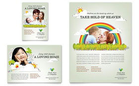 Foster Care & Adoption - Leaflet Template Design Sample