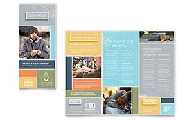 Homeless Shelter - Brochure Template