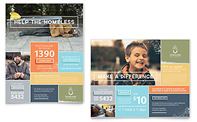 Homeless Shelter - Poster Template