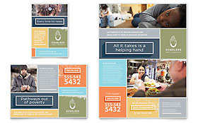 Homeless Shelter - Print Ad Template