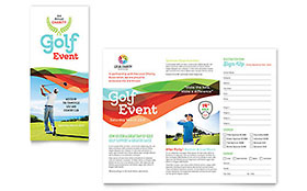 Charity Golf Event - Tri Fold Brochure Template