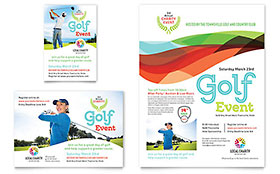 Charity Golf Event - Flyer & Ad Template