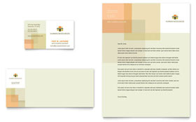HR Consulting - Business Card & Letterhead Template Design Sample