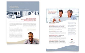 Marketing Consulting Group - Datasheet Template Design Sample