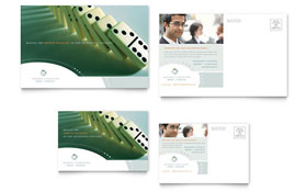 Business Consulting - Postcard Template Design Sample
