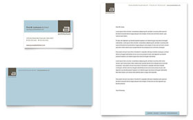 Architect - Business Card & Letterhead Template Design Sample