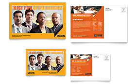 Staffing & Recruitment Agency - Postcard Template Design Sample