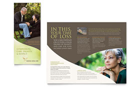 Memorial & Funeral Program - Brochure Template Design Sample
