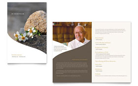 Memorial & Funeral Program - Newsletter Template Design Sample