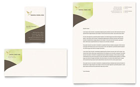 Memorial & Funeral Program - Business Card & Letterhead Template Design Sample