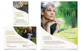 Memorial & Funeral Program - Flyer & Ad Template Design Sample