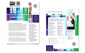 Business Leadership Conference - Sales Sheet Template Design Sample