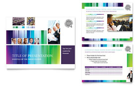 Business Leadership Conference - PowerPoint Presentation Template Design Sample