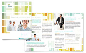 Business Solutions Consultant - Brochure Template Design Sample