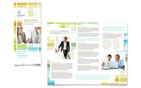 Business Solutions Consultant - Tri Fold Brochure Template Design Sample