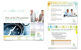Business Solutions Consultant - PowerPoint Presentation Template Design Sample