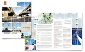 Civil Engineers - Brochure Template Design Sample