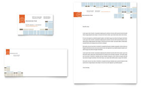 Civil Engineers - Business Card & Letterhead Template Design Sample