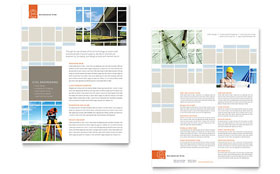 Civil Engineers - Datasheet Template Design Sample