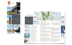 Civil Engineers - Tri Fold Brochure Template Design Sample