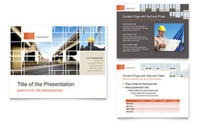 Civil Engineers - PowerPoint Presentation Template Design Sample