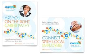 Job Expo & Career Fair - Poster Sample Template