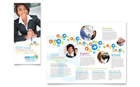 Job Expo & Career Fair - Tri Fold Brochure Template Design Sample