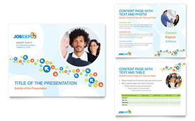 Job Expo & Career Fair - PowerPoint Presentation Template Design Sample
