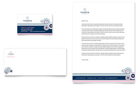 Marketing Agency - Business Card & Letterhead Template Design Sample