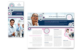 Marketing Agency - Tri Fold Brochure Template Design Sample