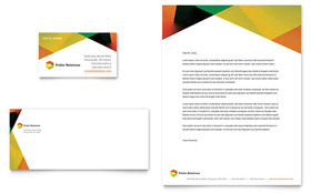 Public Relations Company - Business Card & Letterhead Template Design Sample