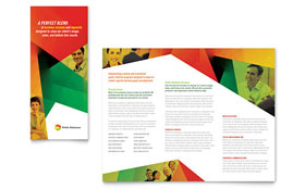 Public Relations Company - Tri Fold Brochure Template Design Sample